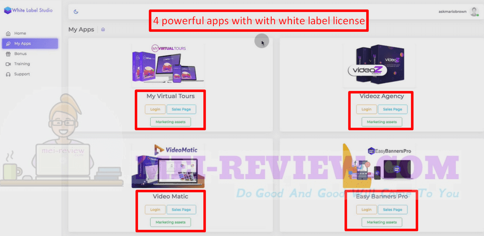 White-Label-Studio-demo-1-After-logging-in-successfully-you-will-see-all-4-out-of-this-world-apps-presented-clearly-on-the-dashboard