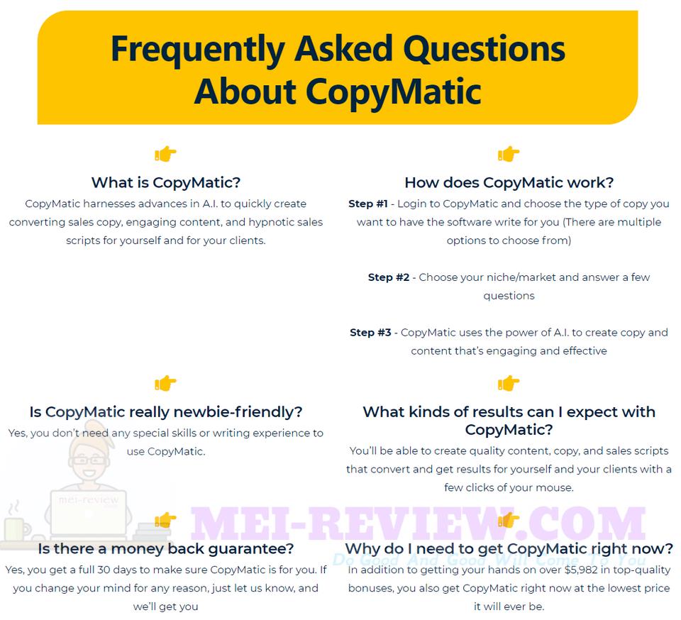 CopyMatic-faq