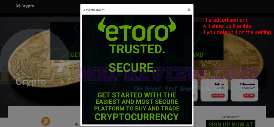 CryptoMember-Demo-11-advertisements-popup