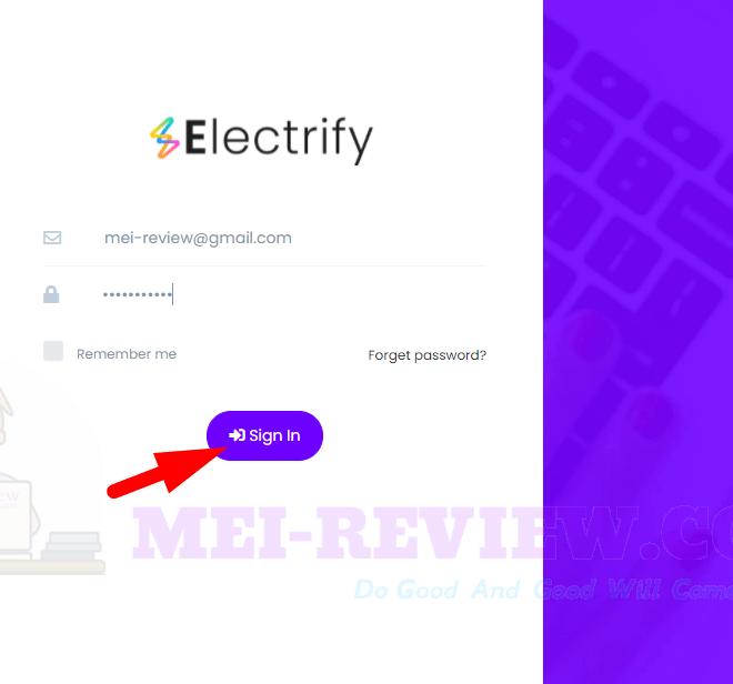 Electrify-demo-1-login