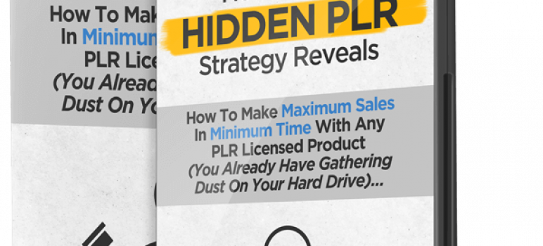 Hidden PLR Review – Selling Your Dust PLRs By The Method Of The Expert
