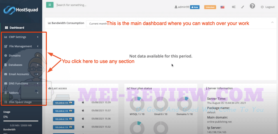 HostSquad-demo-2-dashboard