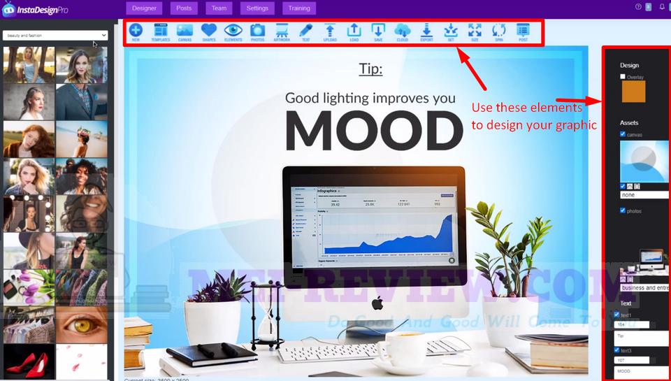 InstaDesignPro-demo-2-editing-tools
