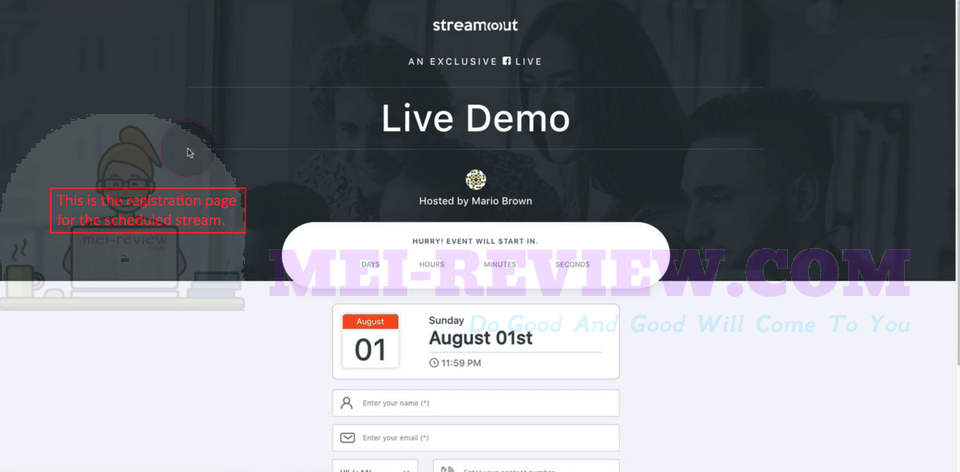 StreamOut-Demo-4-registration-page