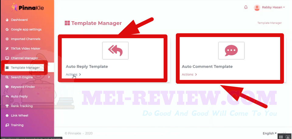 PinnaKle-demo-10-auto-comment-templates