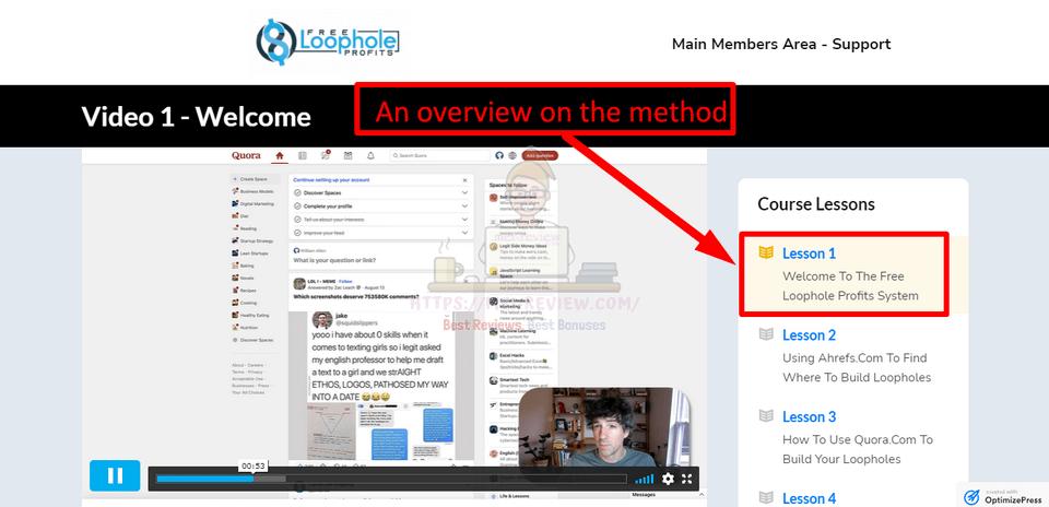 Free-Loophole-Profits-Demo-2-tools