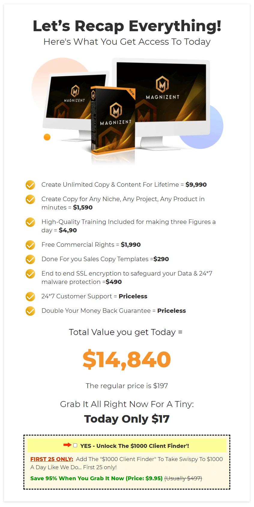 Magnizent-price