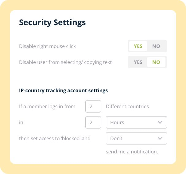Membervio-feature-19-Advanced-Content-Security