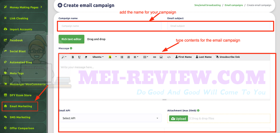 Scroll-N'-Profit-demo-15-Create-Email-and-SMS-Campaign